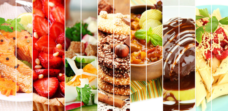 30287438 - collage of delicious food close-up